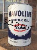 SALE! Vintage TEXACO HAVOLINE 1 Quart Motor Oil Can  (AL4195)