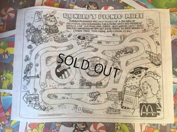 画像2: Vintage McDonalds Place Mat Birth day Dragon (AL546)