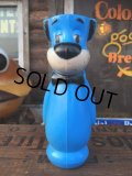 Vintage Huckleberry Hound Plastic Doll Blue (AL550)