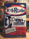 Vintage Rub R Lube Rubber Lubricant Metal Can 1GL (AL5743)