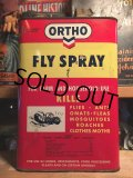 Vintage ORTHO FLY SPRAY Metal Can 1GL (AL5727)