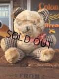 Vintage Doll Bear Black x White (AL591)