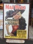 画像1: Vintage MAE WEST Every Day & Every Day's a Holiday Poster (AL705) (1)