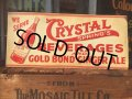 40s Vintage Crystal Cola Soda Embosed Tin Sign (AL707)