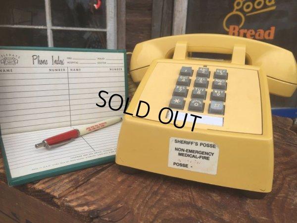 画像1: 70s Vintage US Bell System Telephone Yellow (AL721)