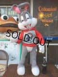 70s Vintage  Mighty Star Bugs Bunny Big Plush Doll (AL712)