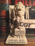 70s Vintage Message Doll / WORLD'S BEST SALESMAN (AL8654)