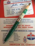 Vintage Auto Gas Oil Advertising Pen QUAKER STATE (AL9144)
