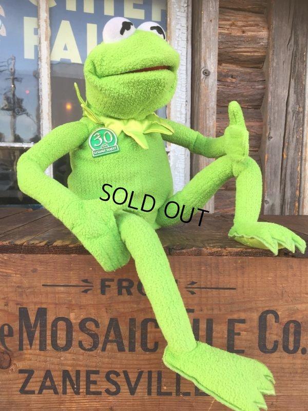 画像1: SALE 90s Vintage Muppets Kermit the Frog 30th Talking Doll (AL793)