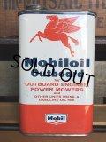 Vintage Mobiloil Outboard Motor Oil 1 quart Pegasus Can (AL852)