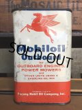 Vintage Mobiloil Outboard Motor Oil 1 quart Pegasus Can (AL854)