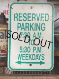 "Vintage Parkig Sign ""Reserved Parking..."" (AL879)"
