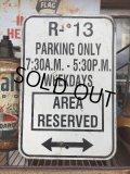 """Vintage Parkig Sign """"R-13 Parking Only..."""" (AL877)"""