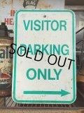 """Vintage Parkig Sign """"Visitor Parking Only"""" (AL878)"""