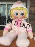 Vintage Pink Girl Rug Doll (AL951)