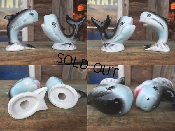 画像2: Vintage Dolphin Ceramic S&P Shaker (AL995)