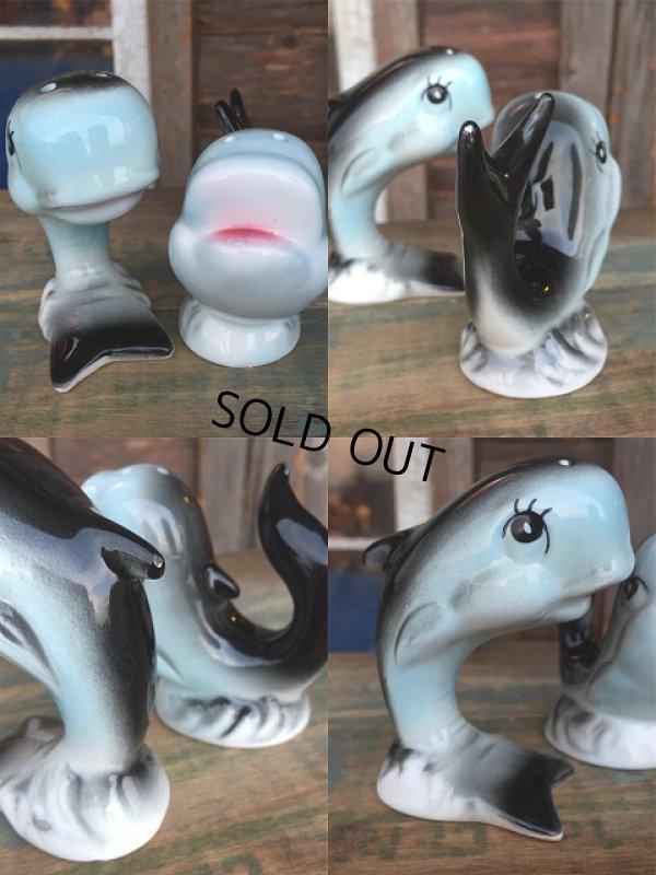 画像3: Vintage Dolphin Ceramic S&P Shaker (AL995)