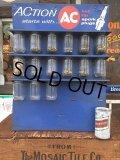 60s Vintage AC Spark Plug Glass Storage Jars (AL7397)