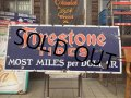 40s Vintage Firestone Tires Porcelain Sign (AL7686)