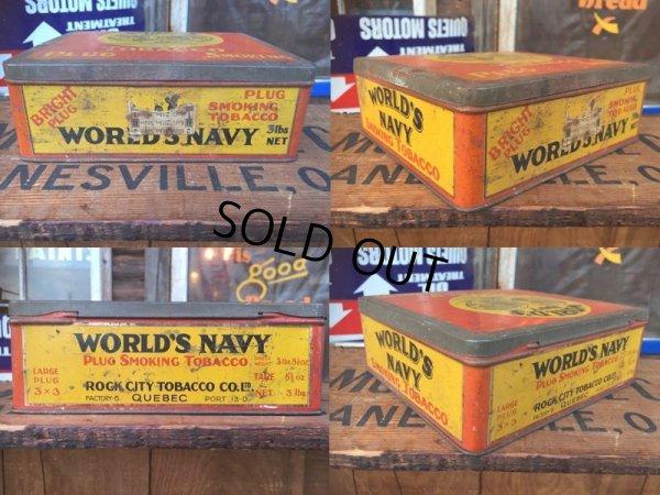 画像3: Vintage World's Navy Tabacco Tin Box (AL7977)