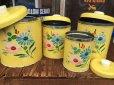 画像9: Vintage Ransburg Canister Set of 4 Flower (AL8585)