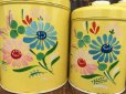 画像11: Vintage Ransburg Canister Set of 4 Flower (AL8585)