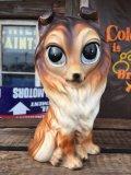 60s GIG Vintage Ceramic Big Eyes Dog (AL8251)