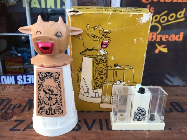画像1: Vintage Cow Creamer Set (AL8770)