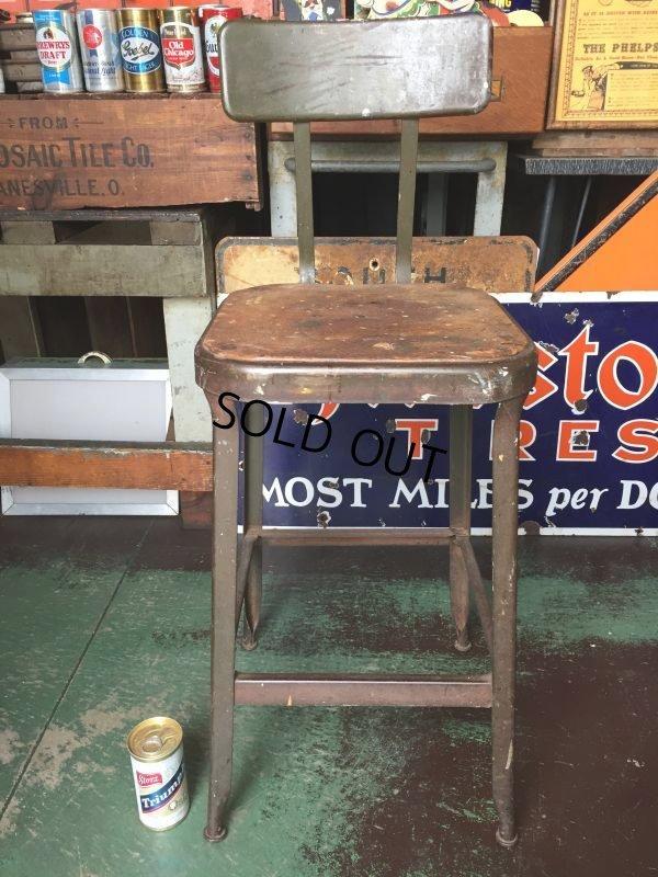 画像1: Vintage Lyon Industrial Stool Chair (AL9018)