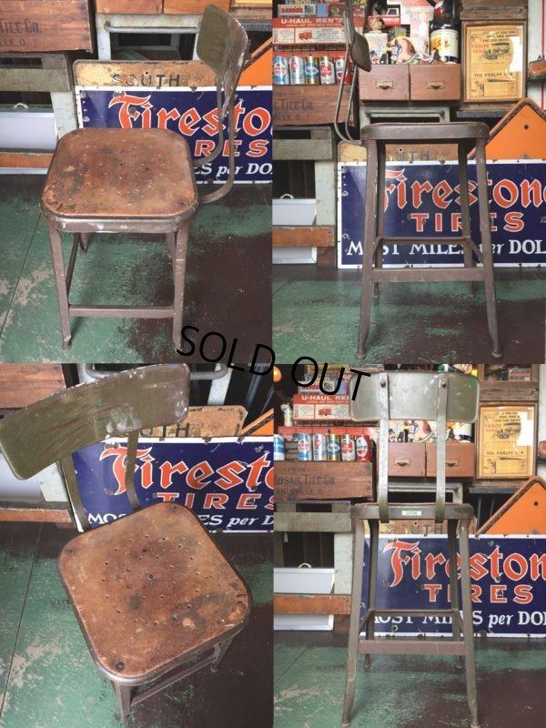 画像2: Vintage Lyon Industrial Stool Chair (AL9018)