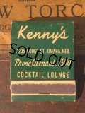 Vintage Matchbook Kenny's Cocktail Lounge (MA9830)