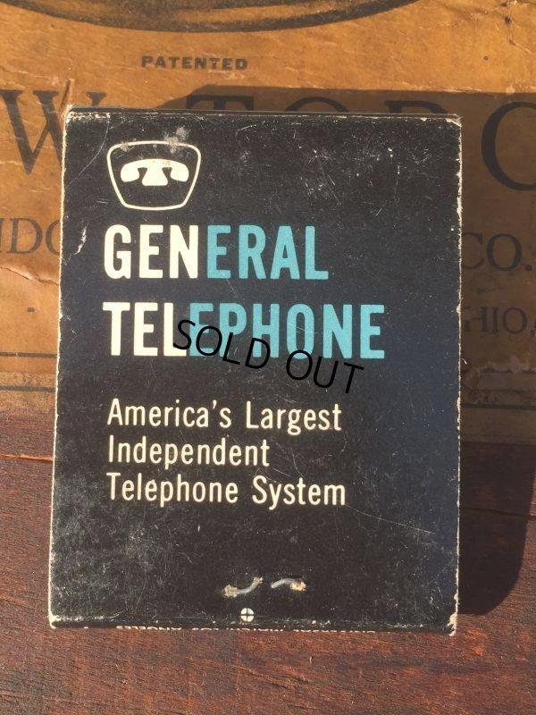 画像2: Vintage Matchbook GENERAL TELEPHONE (MA9824)
