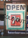 Vintage 7UP Drink Soda Roadside Stand Open Sign (AL9953)