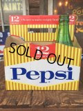 Vintage Soda 6 Pac bottles Cardboard carrying case Pepsi ( (AL0101)