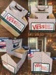 画像2: Vintage Soda 6 Pac bottles Cardboard carrying case Vess ( (AL0098) (2)