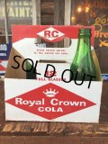 Vintage Soda 6 Pac bottles Cardboard carrying case RC COLA  ( (AL0097)