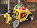 Vintage M&M's Dispenser Figure Hot Rod car (AL0191)