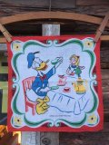 50s Vintage Hanky Disney Donald Duck with Alice Tea Party (AL1703)