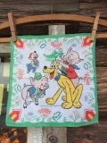 50s Vintage Hanky Disney Pluto with the Three Little Pigs (AL1701)