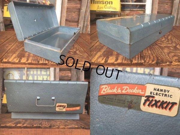 画像2: Vintage Black&Decker Handy Electric Fixkit Metal Case Tool Box (AL3166)