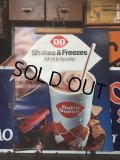60's Vintage Dairy Queen Poster Sign Store Display Shake&Freezes (AL3429)