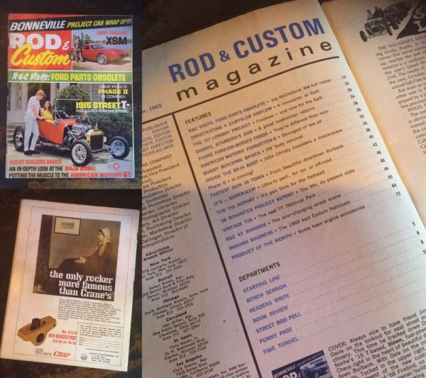 画像2: Vintage Rod & Custom Magazine 1969 (AL3837)