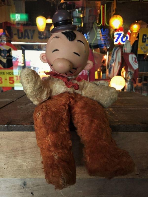 画像1: 60s Vintage Gund Popeye Wimpy Rubber face Doll (J032)