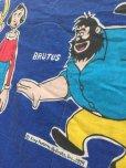 画像2: 70s Vintage Popeye Bedding Fabric Futon Twin Size (J035) (2)