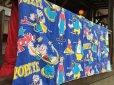 画像8: 70s Vintage Popeye Bedding Fabric Futon Twin Size (J035)