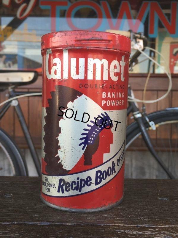 画像1: Vintage Calumet Baking Powder Can 1lb (J46)