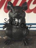 Vintage Halloween Scary Monster Black Rat (J074)