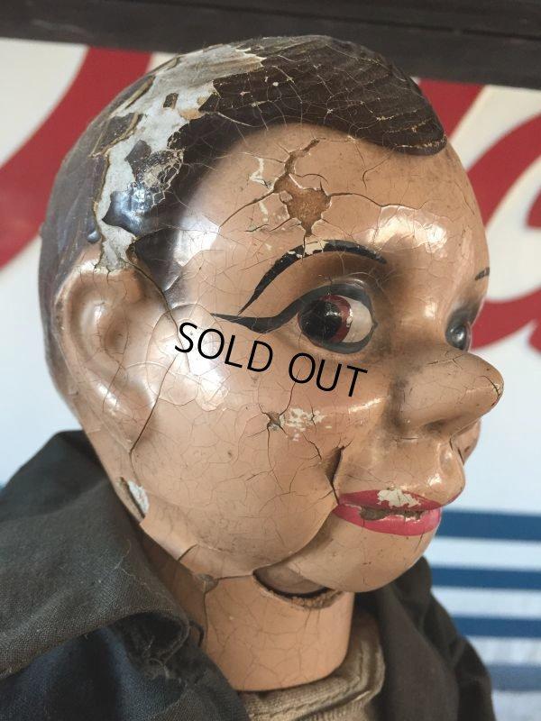 画像2: Vintage Charlie McCarthy Composition Ventriloquist Doll (J086)