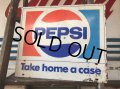 70s Vintage Soda Pepsi Metal Sign( (J092)