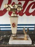 "Vintage Trophy FRESNO 4 W.D. CLUB 3 Rocks 1972 ""2ND"" (J153)"